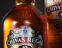 Chivas Regal 12yr old whisky /// 3D Creative Vis & Adv