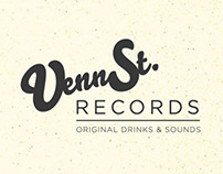 Venn St. Records in Assoc. with Jack Daniels sticker