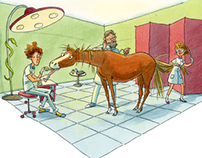 Hans Horse at the veterinarian
