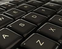 Computer Keyboard Close up on Keys - Typing & Pan