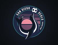 San Diego Seals SC Soccer Team Mockup
