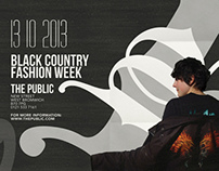 Black Country Fashion Week posters