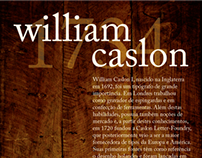 Poster William Caslon I