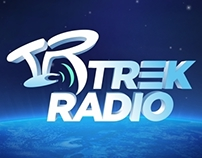Trek Radio logo and website design