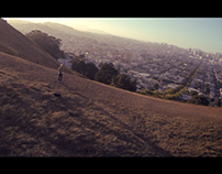Drone over Bernal Hill and Mission Dolores