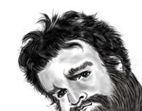 Zack Galifinakis caricature