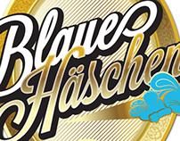 Blaue Häschen - Fake beer label