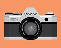 Canon AE-1 Illustration