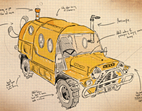 Car of the Future - UTS Illustration