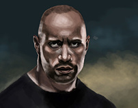 The Rock - Digital Painting