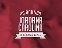 Jordana Carolina. Baptism