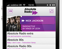 Absolute Radio Player iOS and Android mobile app