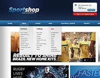 A sports goods shop website design.
