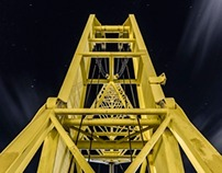 The port, the crane