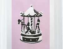 CAROUSEL - Hand pulled print by Eyal Segal
