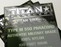 Titan™ Paracord Package Design
