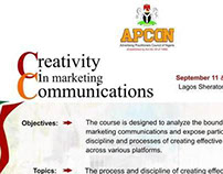 Creativity in marketing Communications