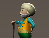 Traditional Turkish Character Cartoon Modelling