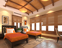 Guest Room Interior Renders