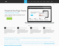 ONE Flat Bootstrap Theme