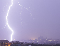 bourka /thunderstorm; Brno; time-lapse