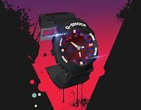 G Shock GA120B | 3D Modeling | Poster Design | TVC