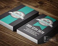 Cool Vertical Retro Business Card Template