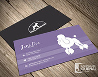 Clean & Minimal Dog Groomer Business Card