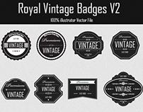 Royal Quality Vintage Badges