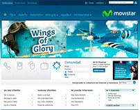 """Ilustración para juego promocional de """"Movistar.es"""""""