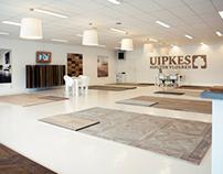 Houten vloeren showroom van Uipkes vloeren