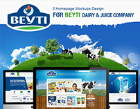 3 Homepage Mockups Design for Beyti Dairy & Juice Compa