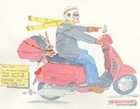 Vespa Sketches - Bunny Rocket