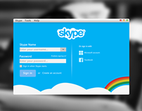 Skype Login Recreation