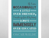 Oscar Wilde - Typography Poster