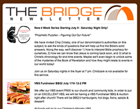 The Bridge Church Newsletter Design