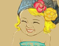 a smile girl