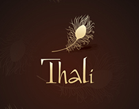 """Thali"" indian restaurant menu"