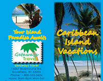 Caribbean Island Travel Brochure Project