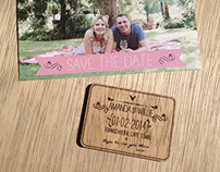 Save the date Postcard & Laser engraved reminder