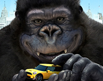mancrafts_ 3D King Kong rendering