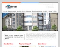 Layout proposal for Group Haussmann Website