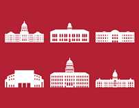 US State Capitols – Icon Set
