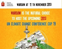 Poster for Warsaw City, Climate Conferencje