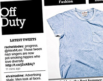 WSJ Off Duty Lifestyle Pages