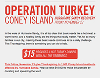 Operation Turkey Hurricane Sandy Fundraiser