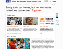 United Way Hurricane Sandy Recovery Fund Website
