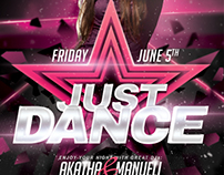 A4 Just Dance Party Club Flyer 8in1 PSD