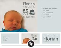 Geboortekaartje Florian