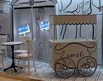 "stand design for ""sanofi"" / 2012"